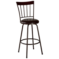 Cantwell Spindle Back Bar Stool - Nested Legs, Dark Brown