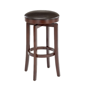 Malone Backless Swivel Bar Stool - Cherry, Brown Seat