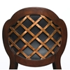 Alaina Lattice Back Swivel Counter Stool - HILL-63369