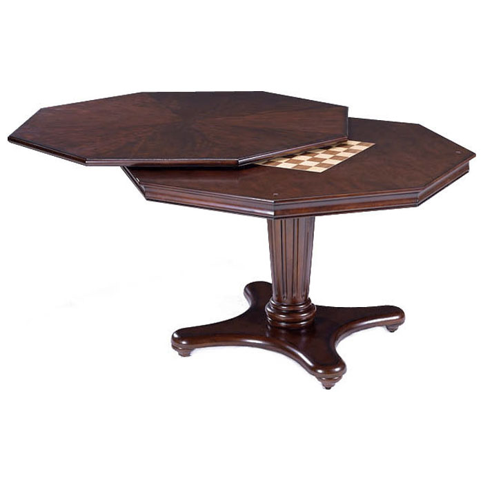 Ambassador Game/Dining Table in Rich Cherry - HILL-6124GTB