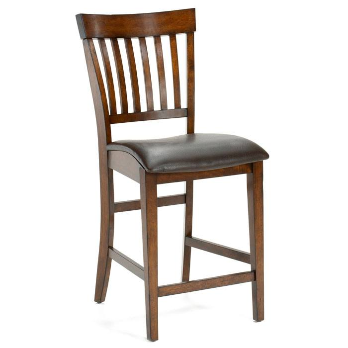 Arbor Hill Non-Swivel Counter Stool in Colonial Chestnut