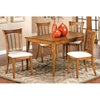 Bayberry Rectangle Dining Table with 4 Wicker Chairs - HILL-47XDTBCRCT