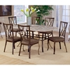 Brookside Diamond Accent 7 Piece Rectangle Dining Set - HILL-4815DTBCDM7