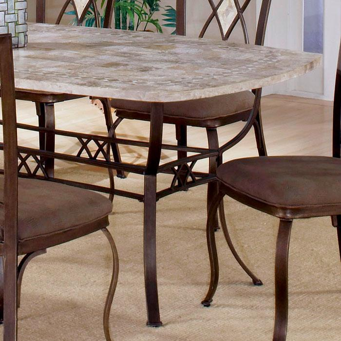 Brookside Fossil Stone Rectangle Dining Table Hill 4815dtb