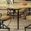 Brookside Dining Table and Caster Chairs with Oval Fossil Accent - HILL-4815DTBCOVC