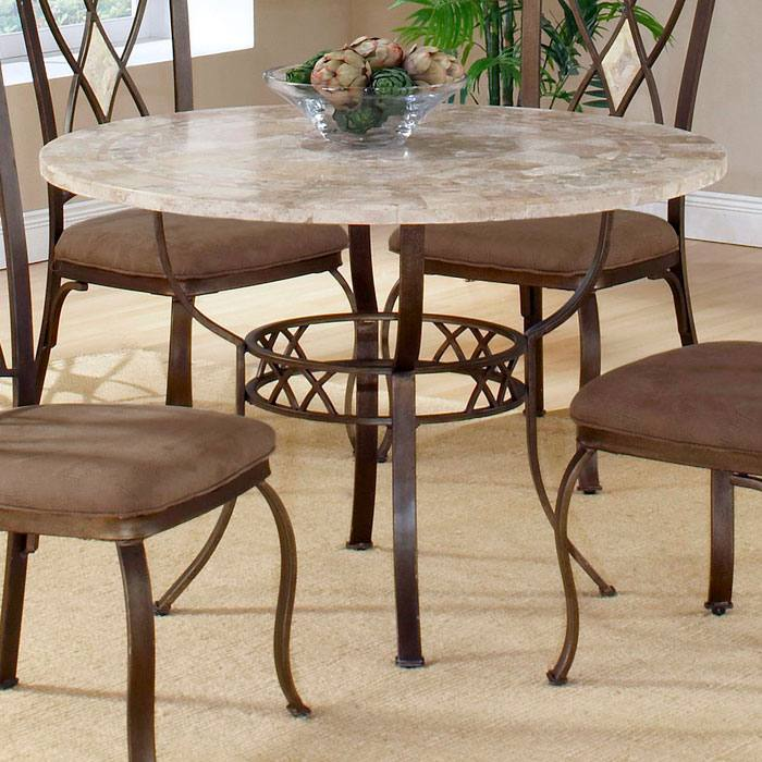 Brookside Fossil Stone Round Dining Table