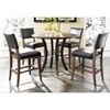 Cameron Round Counter Set with Parson Stools - HILL-4671CTBWS4
