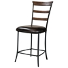Cameron Ladder Back Non-Swivel Counter Stool (Set of 2) - HILL-4671-825
