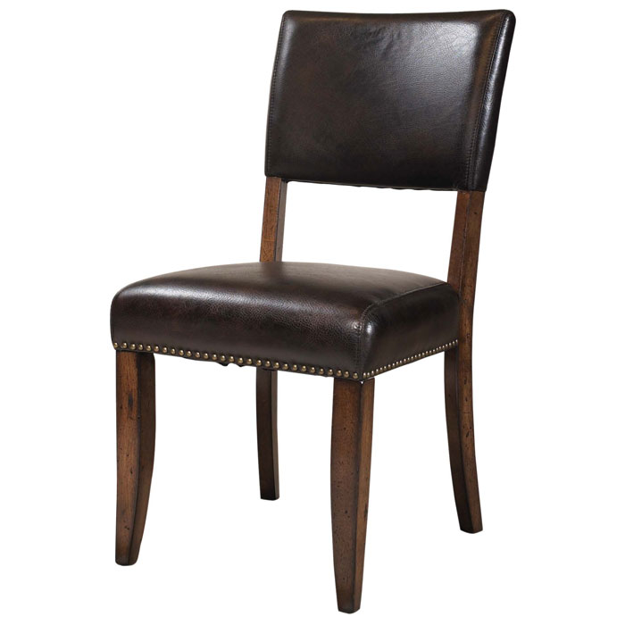 Cameron brown parson dining chair dcg stores for Leather parsons dining chair