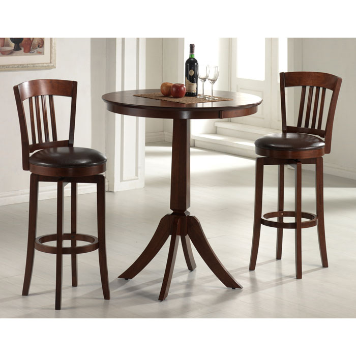 Canton Swivel Bar Stool in Brown - HILL-4166-833