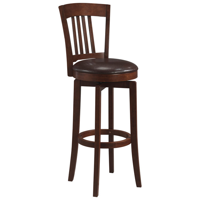 Canton Swivel CounterStool in Brown - HILL-4166-829