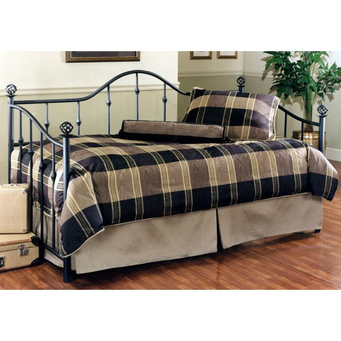Chalet Textured Black Metal Daybed
