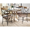 Charleston 5 Piece Round Dining Set with X-Back Chairs - HILL-4670DTBWC2