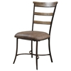 Charleston 5 Piece Round Dining Set with Ladder Back Chairs - HILL-4670DTBWC5