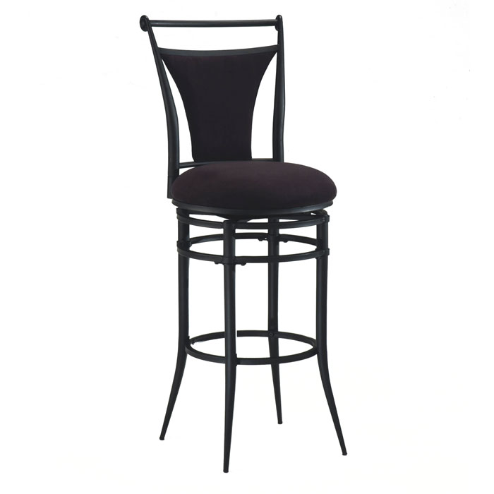Cierra Black Frame Swivel Bar Stool Dcg Stores
