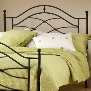 Cole Metal Headboard with Frame in Black Twinkle Finish