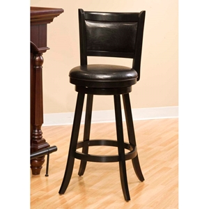 Dennery Black Swivel Counter Stool
