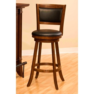 Dennery Swivel Counter Stool with Cherry Wood Frame
