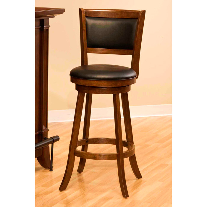 Dennery Swivel Counter Stool With Cherry Wood Frame Dcg