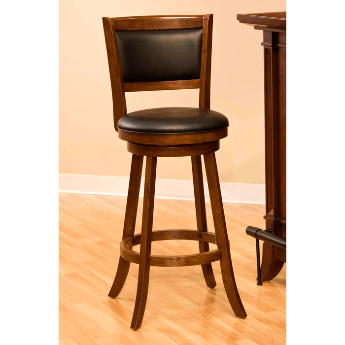 Dennery Swivel Bar Stool With Cherry Wood Frame Dcg Stores