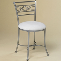 Dutton Vanity Chair with White Seat