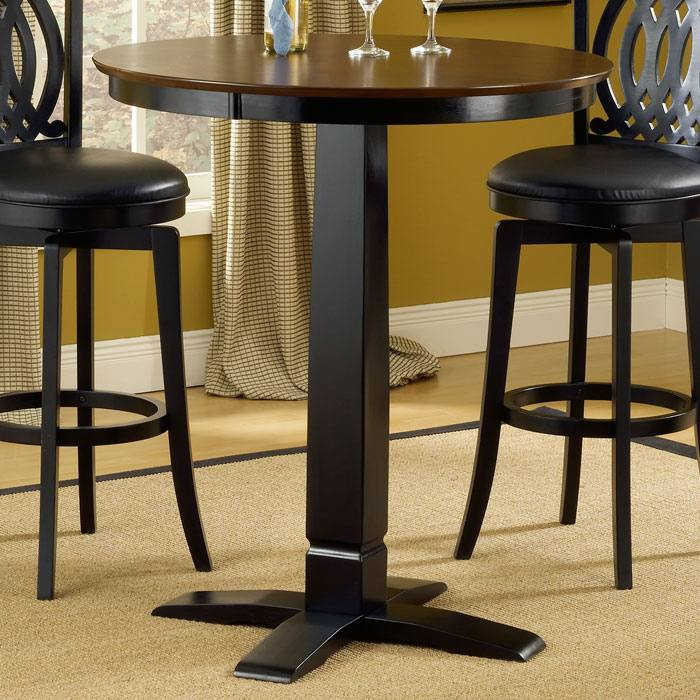 dynamic designs round pub table dcg stores. Black Bedroom Furniture Sets. Home Design Ideas