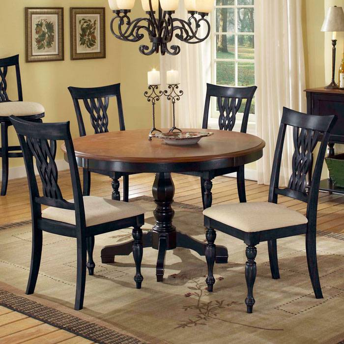 Embassy Dining Table with 4 Side Chairs