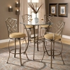Hanover 3 Piece Bar Height Bistro Set - HILL-4815PTBSHR3