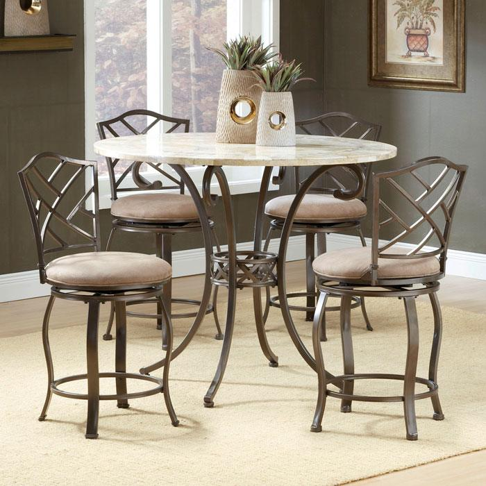 Hanover 5 Piece Counter Height Dining Set - HILL-4815DTBSGHR