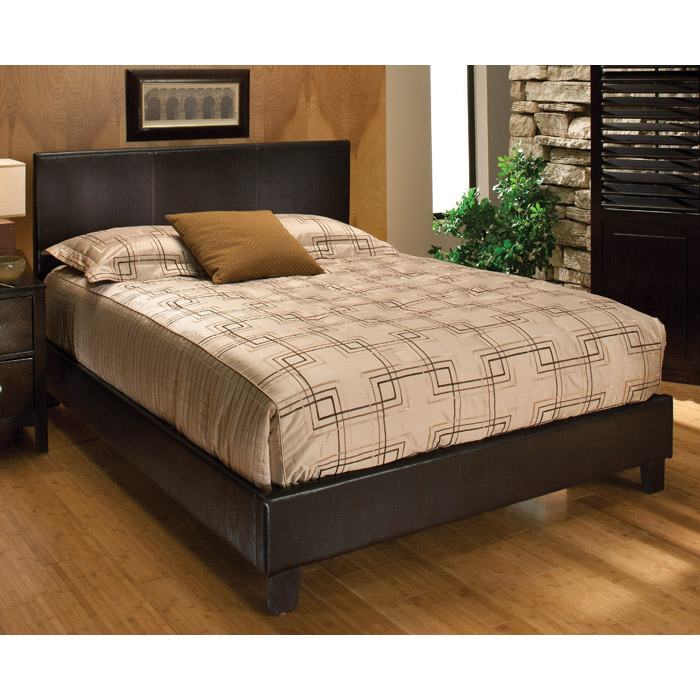 Harbortown Contemporary Platform Bed in Brown - HILL-1611B
