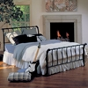 Janis Sleigh Bed in Textured Black