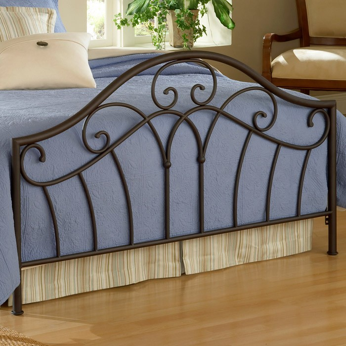 Josephine Arched Metal Bed in Metallic Brown Finish - HILL-1544B