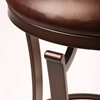 "Kelford 26"" Backless Swivel Counter Stool in Antique Bronze - HILL-4950-826"
