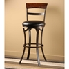 "Kennedy 26"" Swivel Counter Stool with Cherry Wood Top - HILL-4912-826"