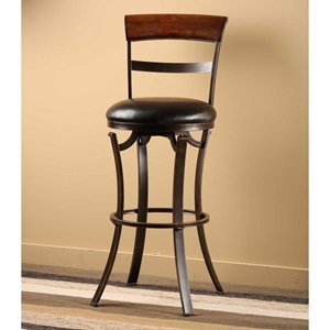 "Kennedy 26"" Swivel Counter Stool with Cherry Wood Top"