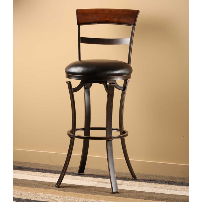 Kennedy 26 Quot Swivel Counter Stool With Cherry Wood Top