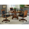 Kingston Square Leather Game Chair on Casters - HILL-6004-801