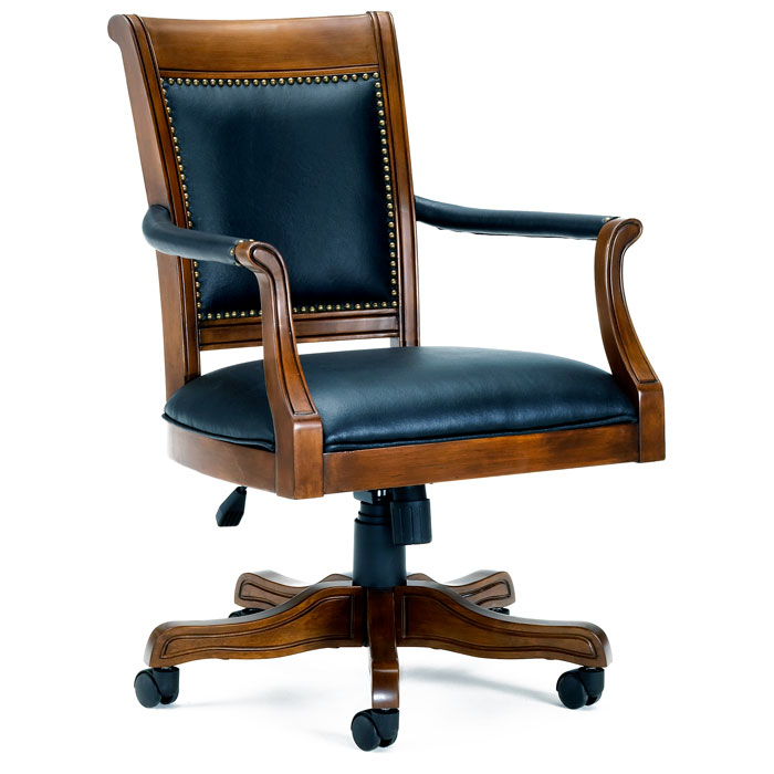 Kingston Square Leather Game Chair On Casters   HILL 6004 801 ...