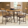 Lakeview Round Dining Set with Wood Accented Chairs - HILL-4264DTBRDCW