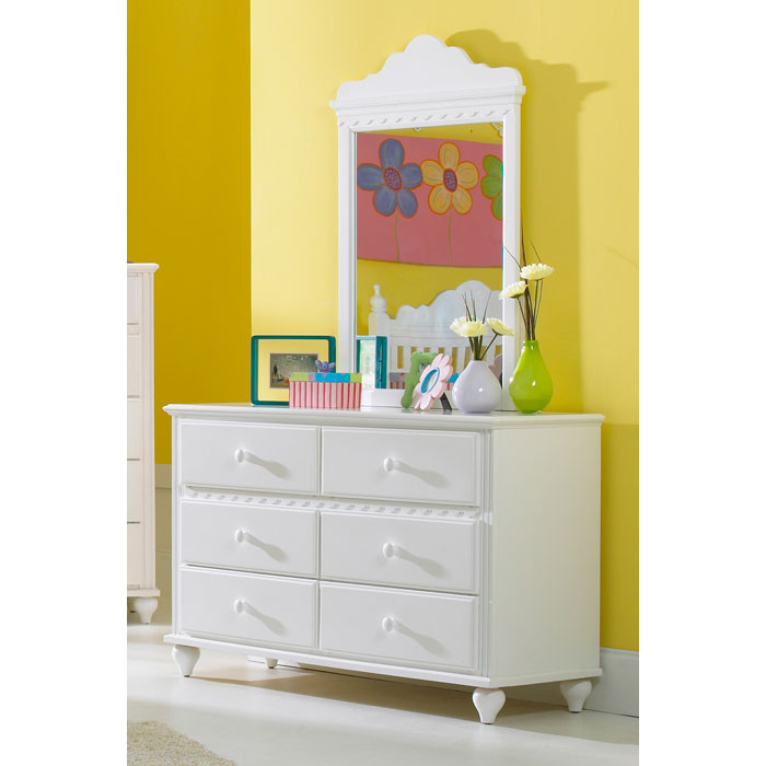Lauren Mirror in White - HILL-1528-721W