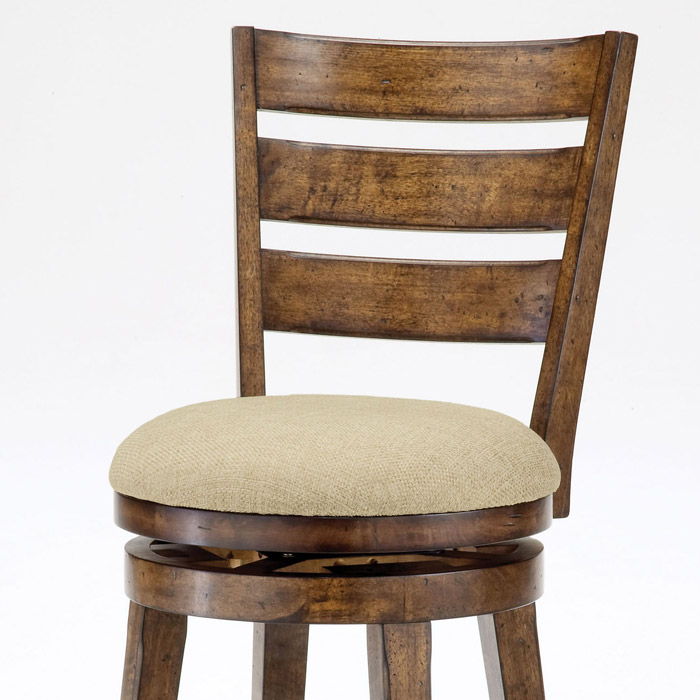 Lenox 30 Quot Wooden Swivel Bar Stool In Chestnut Dcg Stores