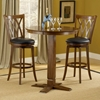 "Mansfield 24"" Swivel Counter Stool - Brown Cherry, Black Seat - HILL-4975-828"