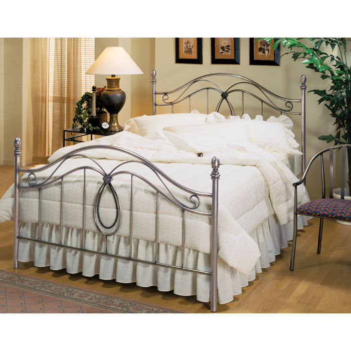 Milano Bed In Antique Pewter DCG Stores