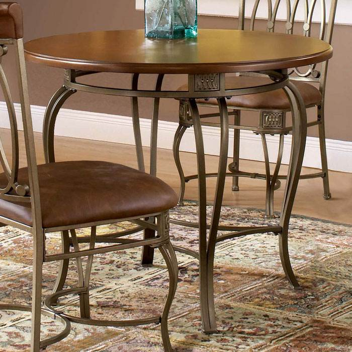 "Montello 36"" Wood Top Round Dining Table"