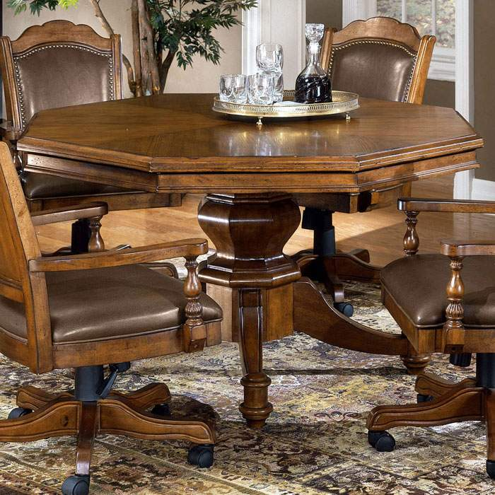 Nassau Wood Game/Dining Table in Brown