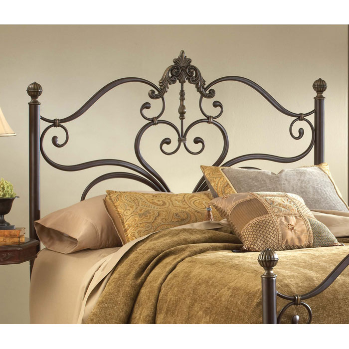 Newton Antique Metal Headboard - HILL-1756