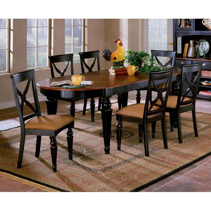 Northern heights piece expansion oval dining set dcg