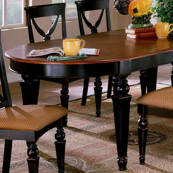 Northern Heights 7 Piece Expansion Oval Dining Set - HILL-4439DTBC7