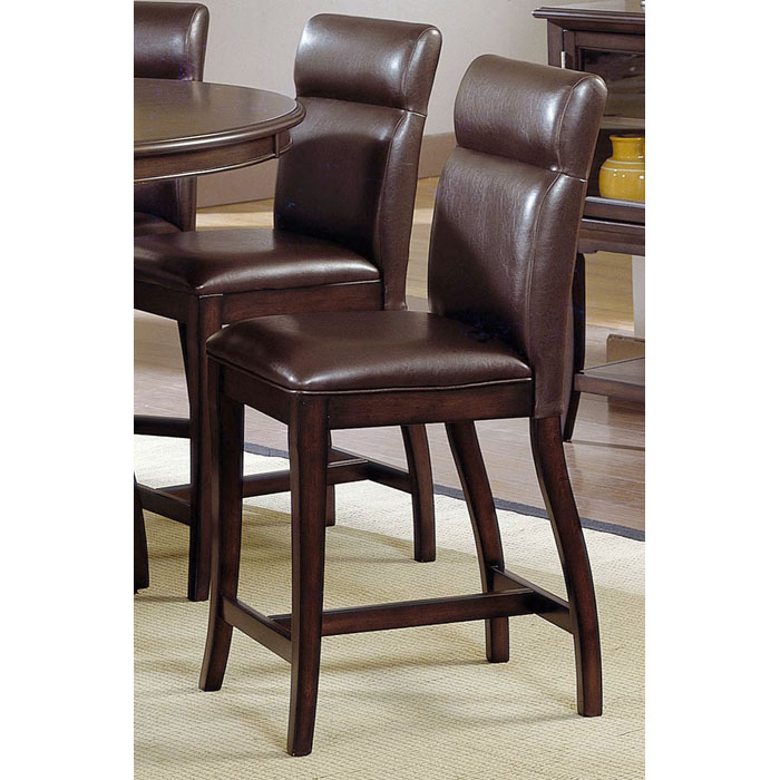 "Nottingham 24"" Counter Stool - Brown Leather - HILL-4077-822"
