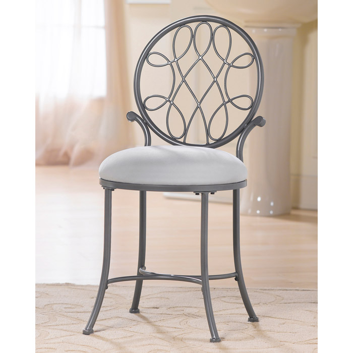 O Malley Metal Vanity Stool With Round Back Dcg Stores